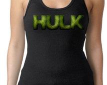 Women's Incredible Hulk Logo Tank Top, Women's Custom tank, Superhero Tank Top