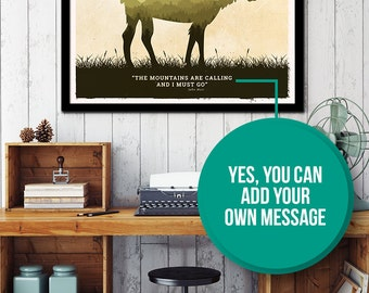 Customize your Animal poster with your own quote or message