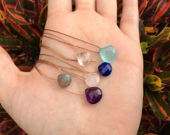 Natural Gemstone Choker for Women Crystal Choker  Gift for her Gift for Wife Gift for Sister Gemstone Necklace Briolette Necklace Great Gift