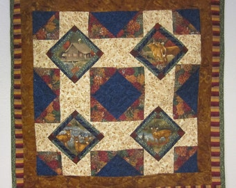 Quilted Woodland Wall Hanging