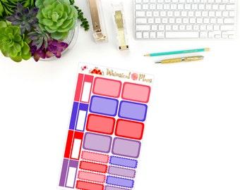 Wildflower Fields Boxes - 26 Planner Stickers