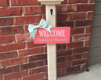Porch Post, Front Porch Decorative Sign Post, Decorative Sign Post, Porch Decor, Welcome Sign,