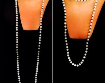 Double Wrap Leather Pearl Necklace