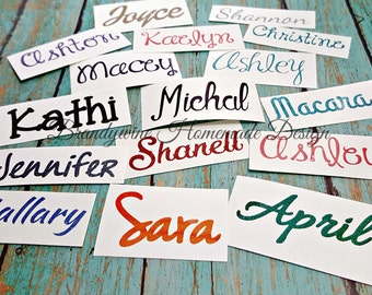 Name Decal, Name Vinyl Decal, Vinyl Decal, Glitter Name Decal