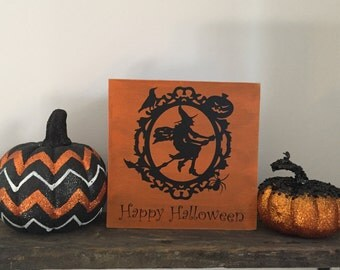 Witch, Skull or Haunted House Halloween Signs