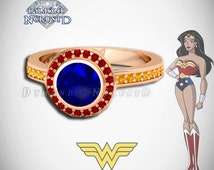 wonder woman wedding ring unique dc comics ring related items etsy 1477