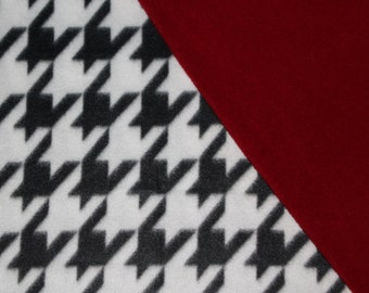 Houndstooth & crimson! Pet Blanket, Dog Blanket, Cat Blanket, Alabama, Fleece Pet Blanket, Kids Blanket
