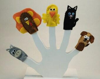 Farm Animal finger puppet set
