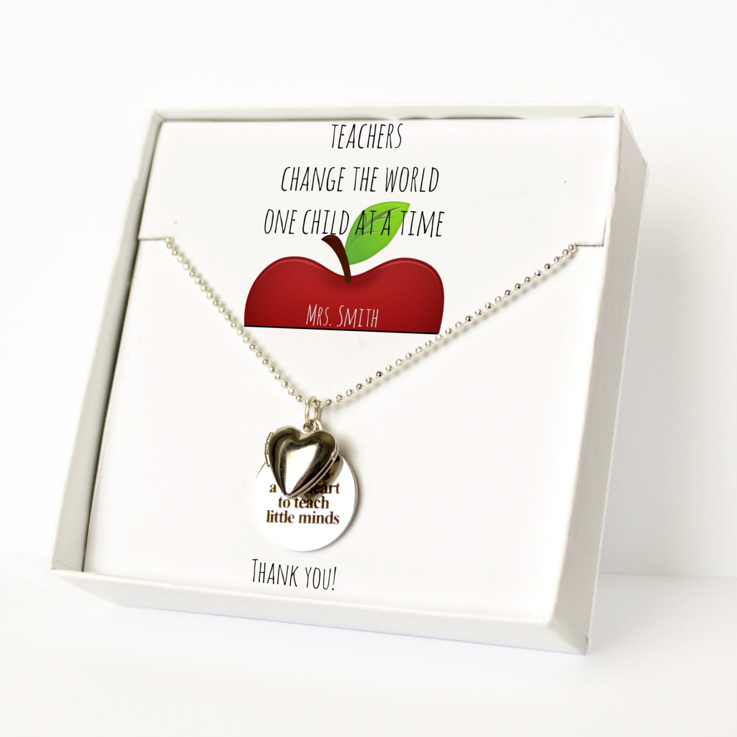 Teacher gift gift for her women 39 s necklace personalized for Engravable gifts for her