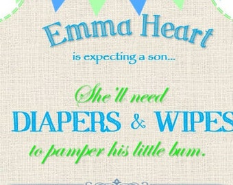 Diapers and Wipes Baby Shower