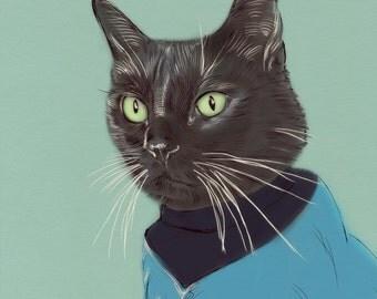 Custom Pet Portrait+ Accesories-DIGITAL- Personalized Cat Illustration-Gift-Pet Portrait-Printable Art-Cat-Gift-Dog-Pet Illustration