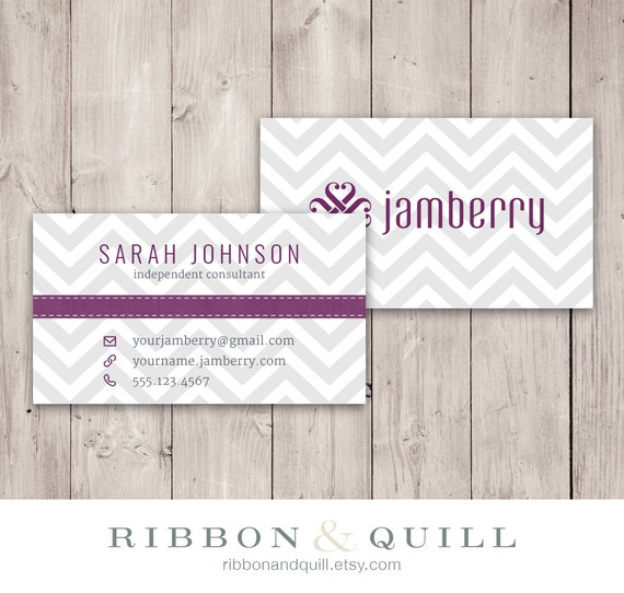 Jamberry Nails Business Card Chevron - Custom PDF, Printable, Template ...