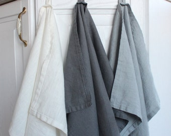 Linen towels, Towel set 3 linen towels Natural hand or kitchen towels, Kitchen Food Cover Hand towel