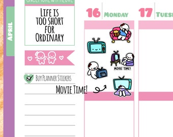 Munchkins - TV Show and Movie Time Planner Stickers (M136)