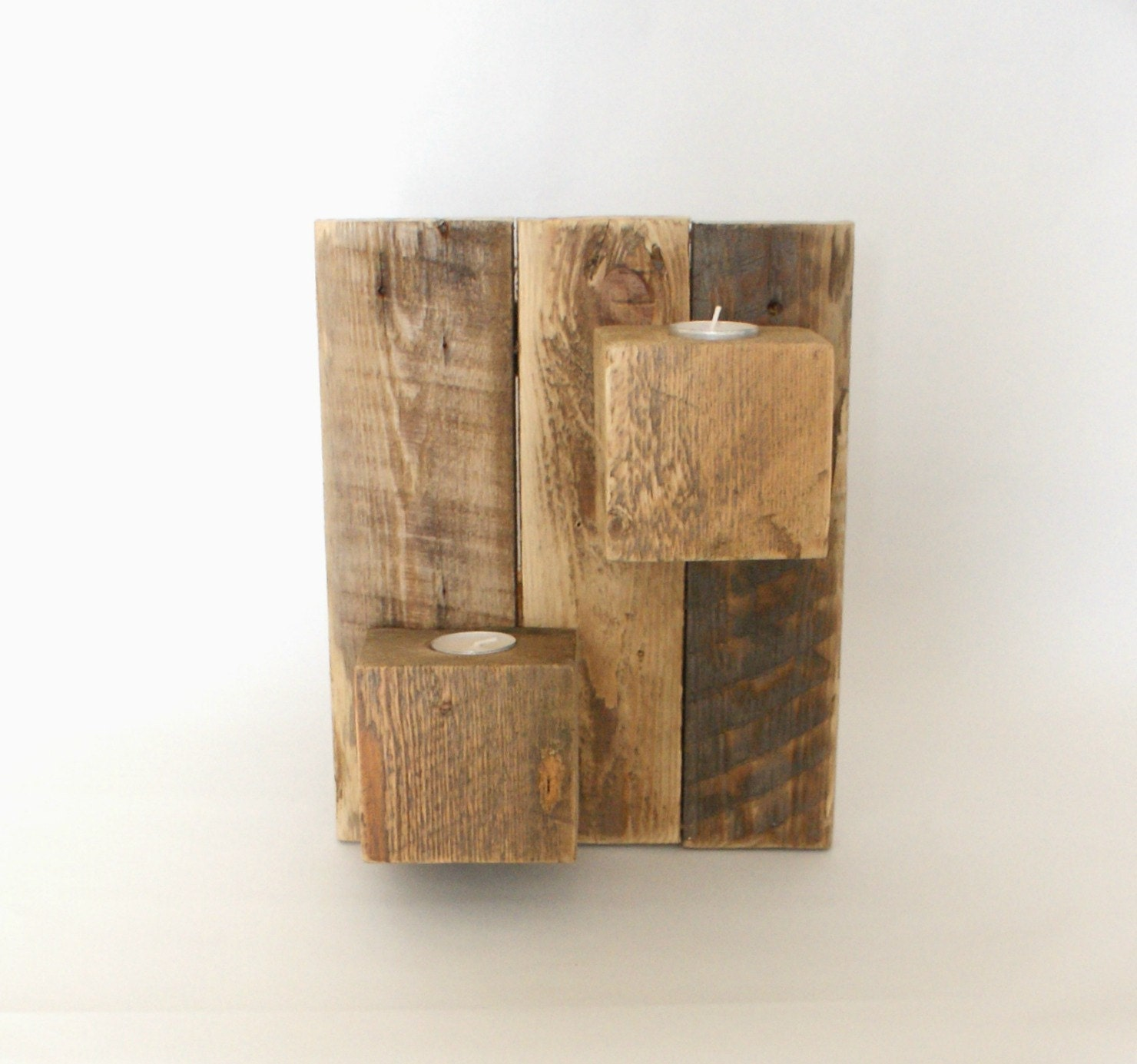 wooden candle holder. wall sconce. sconce.wall hanging.