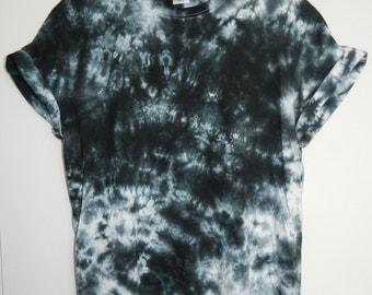 Tie Dye T-Shirt acid wash T-shirt hipster festival grunge Retro 90s indie dip dye unisex rave skate scrunchy t shirt marble top