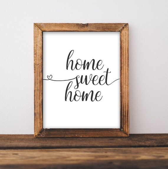 Printable Wall Art Home Sweet Home Printable Art Home Art