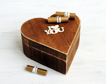 Wooden Memory Chest Kit, 52 Reasons, 52 reasons i love you,Gift For Her,Gift For Him, Gift For Girlfriends, Gifts for Boyfriends
