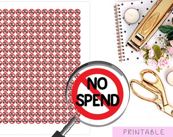No Spend Stickers, Money Stickers, Printable Saving Stickers, Financial Planner Stickers, Erin Condren Stickers, Happy Planner Stickers