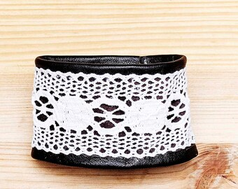 Leather and lace bracelets