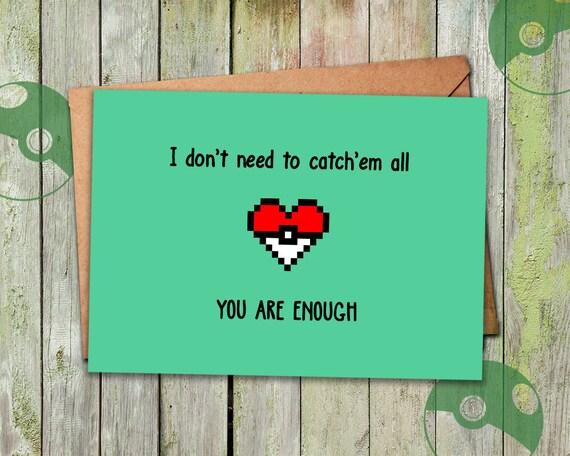 Pokemon Anniversary Card Pokemon Birthday Card Funny – Pokemon Valentines Card