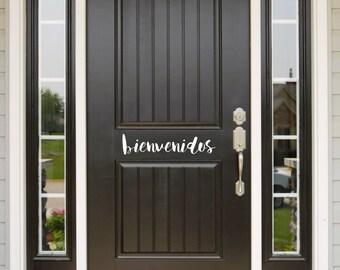 Bienvenidos Door Decal (Puerta Calcomanía)