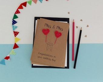 Lesbian wedding card Etsy UK