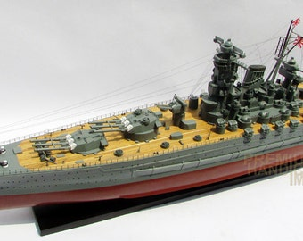"47"" Yamato Japanese Battleship Model ready for display"