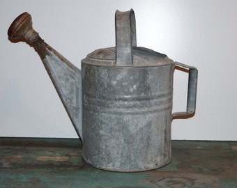 Vintage 10 gallon Galvanized Watering Can