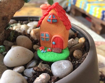 Pot miniature House decoration orange