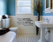 Potty Trainning Decals, Bathroom Wall Decal, Bathroom Vinyl Decals, Bathroom Decal, Bathroom Decals, Toilet Decals, Willow Rose Decals 0113
