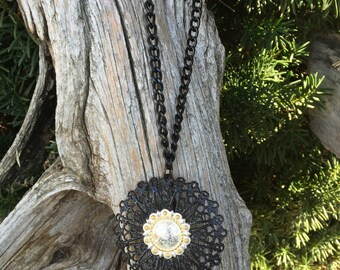 SALE       Living large Rodeo Concho Necklace