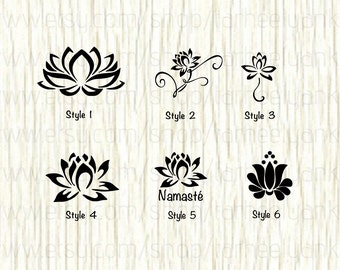 Lotus Car Decal, Lotus Decal, Yoga Decal, Yoga, Meditation Decals, Zen Decals, Namaste Decal, Lotus Blossom Decal, Buddha, Flower Decal