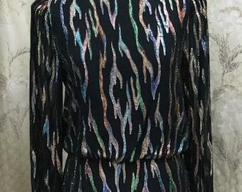 Vintage 1980s Rimini Silk and Glitter Blouse
