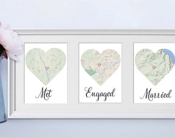Personalised Wedding Gift Australia : Personalised map Etsy