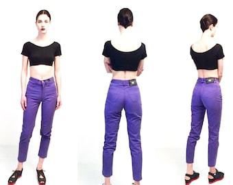 Vtg Versace Jeans Couture Purple High Waist Pants