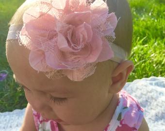 Pink Flower Petal Headband