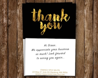 Gold Foil Thank You Card For Business