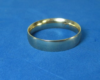 Men's Bands Goldtone Simple Ring Size 10