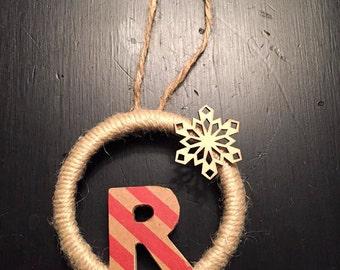"Large ""R"" Wreath Ornament"