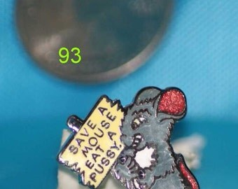 vintage adult humor hat pin and pin back  --93
