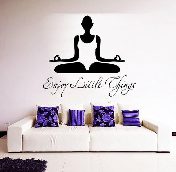 Yoga Wall Decal Quote Vinyl Decals Enjoy by AmazingDecalsArt