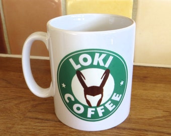 Avengers Loki Tom Hiddlestone Starbucks Inspired Coffee Mug 10oz