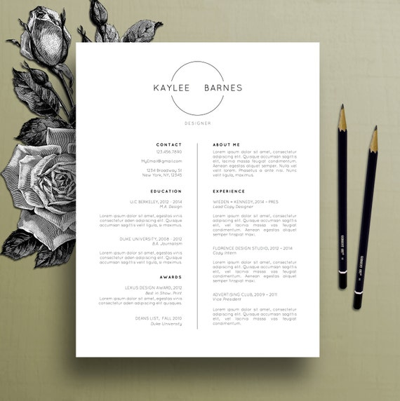 professional resume template cv template simple resume