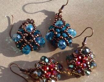 "Pillow"" Crystal earrings"