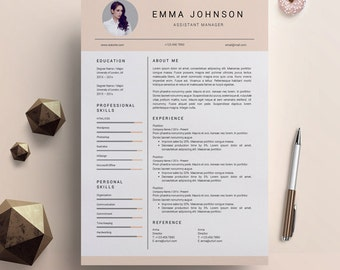creative resume template creative resume design resume template word resume cover letter resume template nurse pc mac emma johnson - Creative Resume