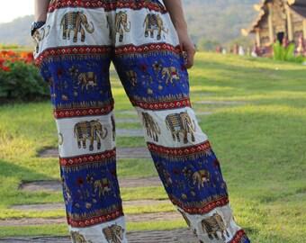 Elephant pants hippie pants festival pants hobo pants Blue