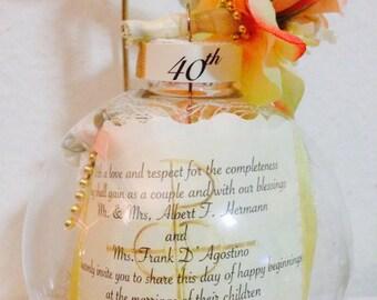 Personalized 40th Anniversary Ornament