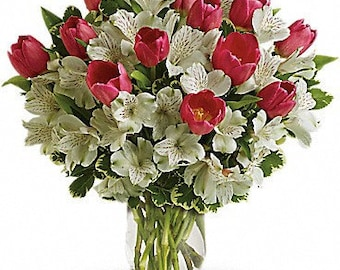 Spring Romance Bouquet. Fresh Flowers. Local delivery to zip: 33160, 33180, 33162, 33179, 33009, 33019, 33020, 33154