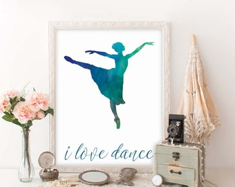 Dance Teacher Gift Printable, Digital Print, Dance Instructor Keepsake, Instant Download, Dance Recital Gift, Dance Teacher Christmas